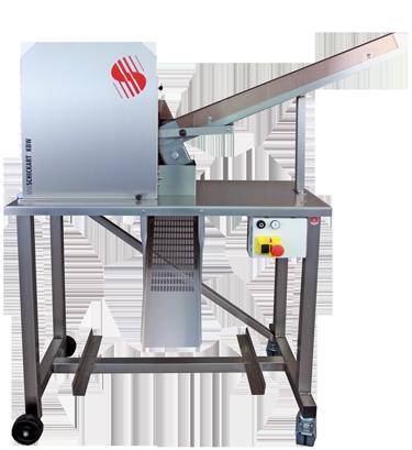 KBW Serie / 10x10 Knödelbrot-Würfelmaschine mit Rutsche
